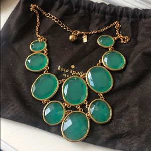 Kate Spade green bib necklace